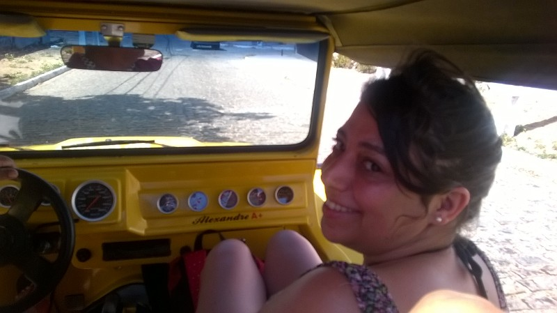 Diana en buggy